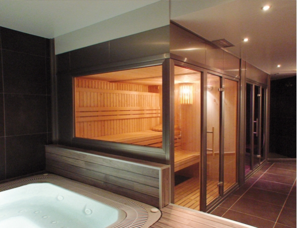 Sauna profesional abeto 600x600x206 21kw productos the new spas - Productos para sauna ...