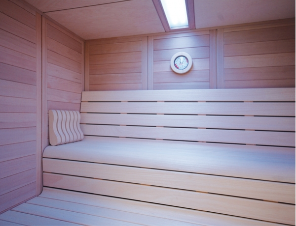 Sauna barcelona hemlock 210x210x220 7 5kw productos the new spas - Productos para sauna ...