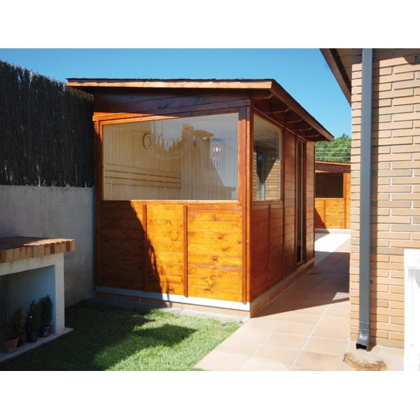 kit sauna exterior a2 aguas hasta x m. Black Bedroom Furniture Sets. Home Design Ideas